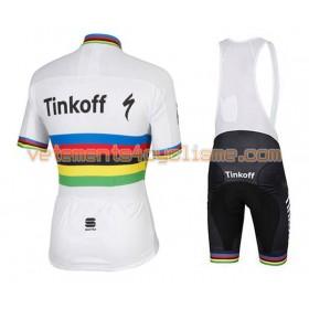 Tenue Cycliste et Cuissard à Bretelles 2016 Tinkoff N003