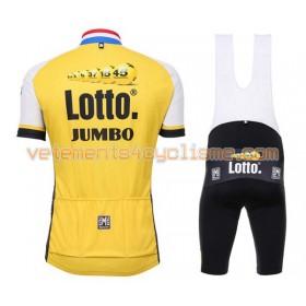 Tenue Cycliste et Cuissard à Bretelles 2016 LottoNL-Jumbo N001