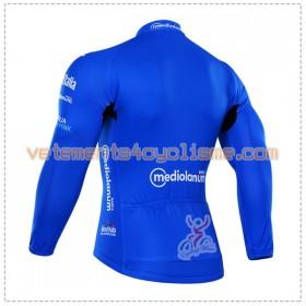 Tenue Cycliste Bleu Manches Longues et Collant à Bretelles 2016 Giro dItalia