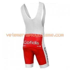 Cuissard Court à Bretelles Femme 2017 Cofidis Pro Team N001
