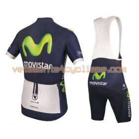 Tenue Cycliste et Cuissard à Bretelles 2016 Movistar Team N001
