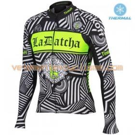 Tenue Cycliste Manches Longues et Collant à Bretelles 2016 Tinkoff Hiver Thermal Fleece N002