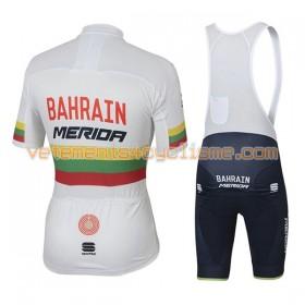 Tenue Cycliste et Cuissard à Bretelles Femme 2017 Bahrain Merida Championnats de Lituanie