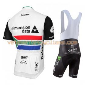 Tenue Cycliste et Cuissard à Bretelles Femme 2017 Dimension Data Championnats de Afrique du Sud