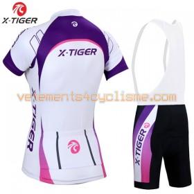 Tenue Cycliste et Cuissard à Bretelles Femme 2017 X-Tiger N008