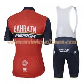 Tenue Cycliste et Cuissard à Bretelles 2017 Bahrain Merida N001