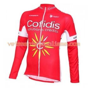 Tenue Cycliste Manches Longues et Collant à Bretelles 2016 Cofidis Pro Cycling N001
