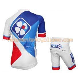 Tenue Cycliste et Cuissard à Bretelles Enfant 2016 FDJ N022