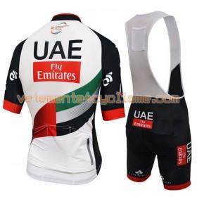 Tenue Cycliste et Cuissard à Bretelles 2017 UAE Team Emirates N001