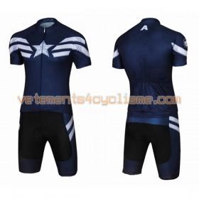 Tenue Cycliste et Cuissard à Bretelles 2017 Super Hero Brand N007