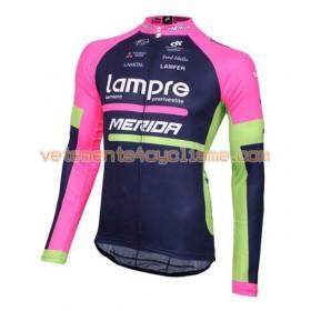 Tenue Cycliste Manches Longues et Collant à Bretelles 2016 Lampre-Merida N001