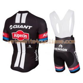 Tenue Cycliste et Cuissard à Bretelles 2016 Giant-Alpecin N001