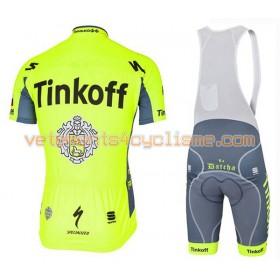 Tenue Cycliste et Cuissard à Bretelles 2016 Tinkoff N005