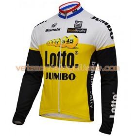 Tenue Cycliste Manches Longues et Collant à Bretelles 2016 LottoNL-Jumbo N001