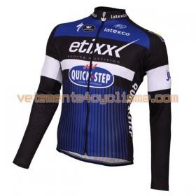 Tenue Cycliste Manches Longues et Collant à Bretelles 2016 Etixx-Quick Step N001