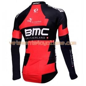 Maillot vélo 2016 BMC Racing Team Manches Longues N001