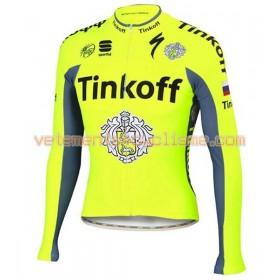 Tenue Cycliste Manches Longues et Collant à Bretelles 2016 Tinkoff N001