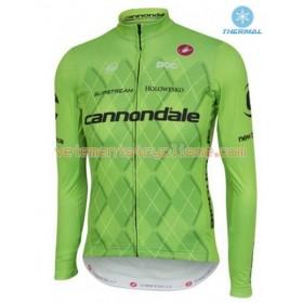 Tenue Cycliste Manches Longues et Collant à Bretelles 2016 Cannondale-Drapac Hiver Thermal Fleece N001