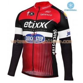Tenue Cycliste Manches Longues et Collant à Bretelles 2016 Etixx-Quick Step Hiver Thermal Fleece N002