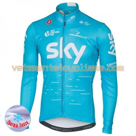 Maillot vélo 2017 Team Sky Hiver Thermal Fleece N002