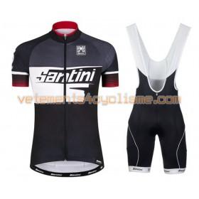 Tenue Cycliste et Cuissard à Bretelles 2016 Santini N007
