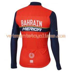 Maillot vélo 2017 Bahrain Merida Manches Longues N001