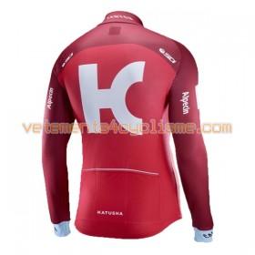 Maillot vélo 2017 Team Katusha-Alpecin Manches Longues N001