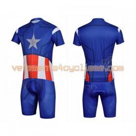 Tenue Cycliste et Cuissard à Bretelles 2017 Super Hero Brand N010