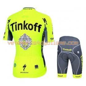 Tenue Cycliste et Cuissard à Bretelles Enfant 2016 Tinkoff N012