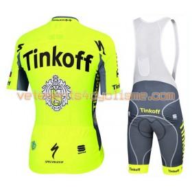 Tenue Cycliste et Cuissard à Bretelles 2016 Tinkoff N001