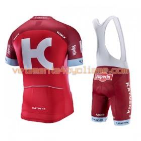 Tenue Cycliste et Cuissard à Bretelles 2017 Team Katusha-Alpecin N001