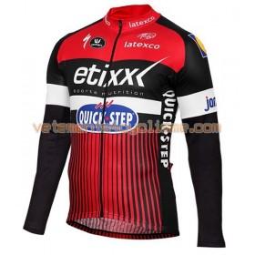 Tenue Cycliste Manches Longues et Collant à Bretelles 2016 Etixx-Quick Step N002