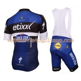 Tenue Cycliste et Cuissard à Bretelles 2016 Etixx-Quick Step N001