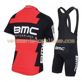 Tenue Cycliste et Cuissard à Bretelles Femme 2017 BMC Racing Team N001