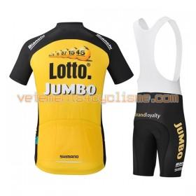 Tenue Cycliste et Cuissard à Bretelles 2017 LottoNL-Jumbo N001
