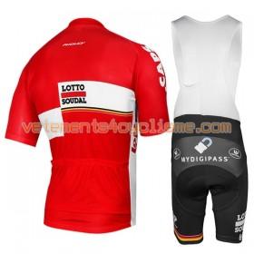 Tenue Cycliste et Cuissard à Bretelles 2017 Lotto Soudal N001