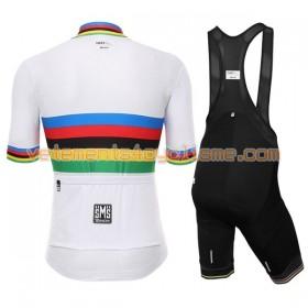 Tenue Cycliste et Cuissard à Bretelles Femme 2017 UCI World Champion Rainbow