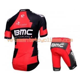 Tenue Cycliste et Cuissard à Bretelles Enfant 2016 BMC Racing Team N016