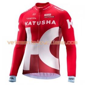 Tenue Cycliste Manches Longues et Collant à Bretelles 2016 Team Katusha N001
