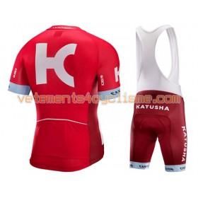 Tenue Cycliste et Cuissard à Bretelles 2016 Team Katusha N001