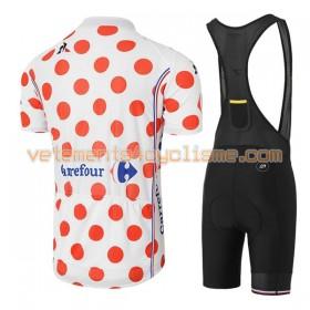 Tenue Cycliste à Pois et Cuissard à Bretelles Femme 2017 Tour de France