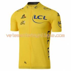 Tenue Cycliste Jaune et Cuissard à Bretelles 2016 Tour de France