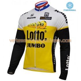 Tenue Cycliste Manches Longues et Collant à Bretelles 2016 LottoNL-Jumbo Hiver Thermal Fleece N001