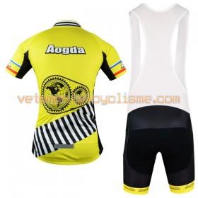 Tenue Cycliste et Cuissard à Bretelles 2017 Aogda N027