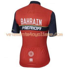 Maillot vélo 2017 Bahrain Merida N001