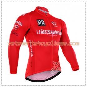 Tenue Cycliste Rouge Manches Longues et Collant à Bretelles 2016 Giro dItalia