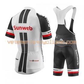Tenue Cycliste et Cuissard à Bretelles Femme 2017 Team Sunweb N001