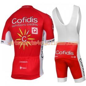 Tenue Cycliste et Cuissard à Bretelles 2017 Cofidis Pro Team N001