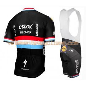 Tenue Cycliste et Cuissard à Bretelles 2016 Etixx-Quick Step N008