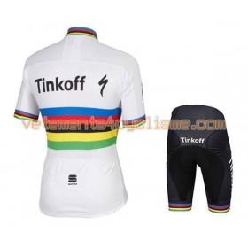 Tenue Cycliste et Cuissard à Bretelles Enfant 2016 Tinkoff N013